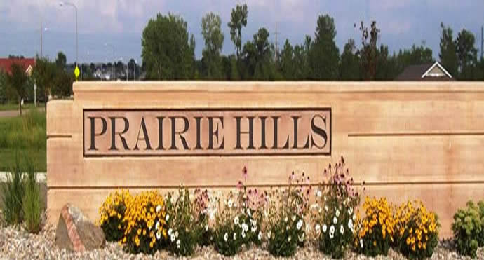 Prairie Hills Entry sign
